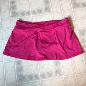 Athleta Pink Swim Skirt Attached panty
